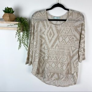 Maurice's cream top size medium tribal print